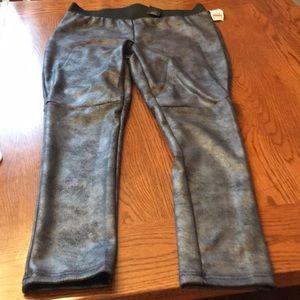 Inc silver metallic legging